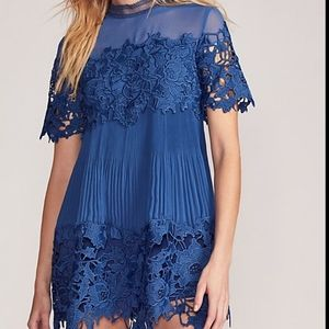 Free People Hollie Lace Mini Dress